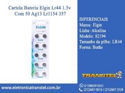 Cartela Bateria Elgin Lr44 1.5v Com 50 Ag13 Lr1154 357