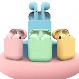Fone Bluetooth AirPods Colorido<br>
