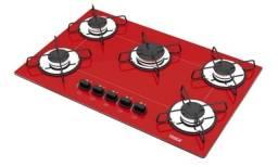 Fogão cooktop tedge vermelho