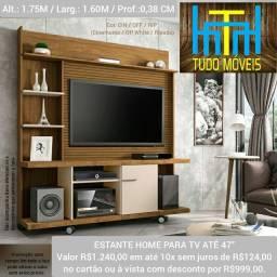 Estante Home para TV até 47 Polegadas 1 Porta Basculante Taurus