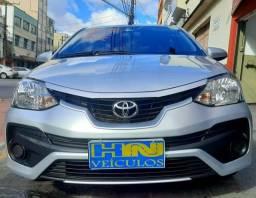 Título do anúncio: Toyota etios sedan aut X 1.5L vvt-i flex 4p prata 2018 raridade 35.000km ipva2021pgvist.