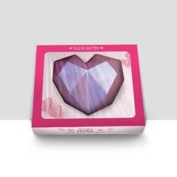 Embalagem para Coração Lapidado Dia das Mães