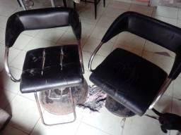 Cadeiras para salão de barbearia