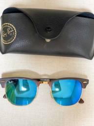 Óculos clubmaster rayban original azul espelhado