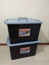 2 Caixa Organizadoras de 50 litros As duas por