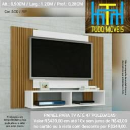 Painel para TV até 47 Polegadas 2 nichos (montagem grátis)
