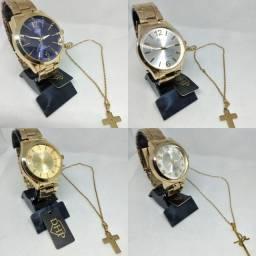 Kit dia das Mães- relógio + colar em aço 50.00