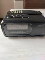 Rádio relógio telefone