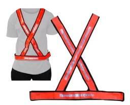 Colete X - Laranja/Branco Refletivo Plastcor