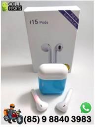 Fone Bluetooth Earpods i15  Entrega Grátis