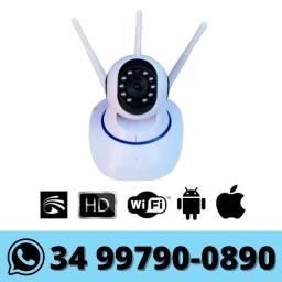 Câmera Ip Wi-fi HD Visão Noturna - Monitorada via celular