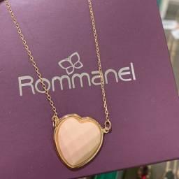 Colar Coração Rosê Rommanel Folheado à Ouro 18k