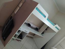 Cama escrivaninha tok stok pouco uso
