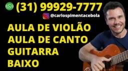 Aula Grátis Experimental de Violão Canto Guitarra Baixo. Promoção Iniciantes!