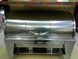 Rechaud Chafing Dish 2 cubas 1/2 fogareiro