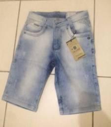 Bermuda masculia jeans com lycra