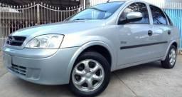 Gm - Chevrolet Corsa Sedan 2007 Max Completo 1.8 Flex Prata Plac A - 2007