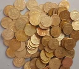 1 lote de 100 moedas de 2 cruzeiro