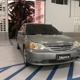 Honda Civic LX 2002 automático com dvd retrátil! REPASSE - 2002