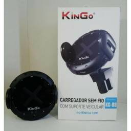Carregador Sem Fio Com Suporte Veicular (KG-88) Kingo