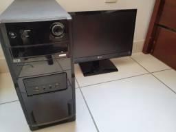 PC Quad Core + 4gb ddr3 + Monitor 19 Led