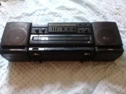 Colecionador Rádio Boombox Aiwa Ca-w37 + Rádio Relógio Aiwa