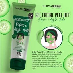 Gel Facial Peel Off - Pepino e Argila Verde