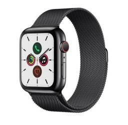 Smartwatch Apple series 5 44mm caixa preto-espacial pulseira estilo milanês