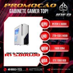 Gabinete Gamer Ryzen 3600x GTX 1060 6gb