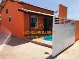 FC/ Linda casa com piscina em residencial com segurança 24hs em Unamar