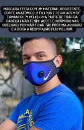 Máscara com filtros respiradores