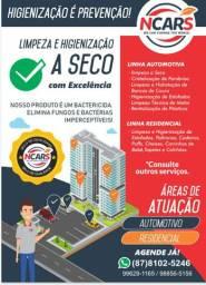Higienização de estofados automotivos e residênciais.
