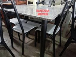 Jogo mesa c/ 4 cadeiras tuboalres. 1,20 x 0,75 L
