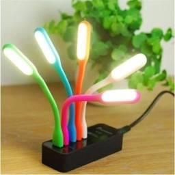 Mini Luminária Lâmpada Led Luz Abajur Notebook Usb Flexível