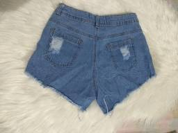Short Love Cós Alto Hot Pants
