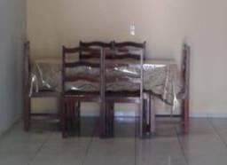 Mesa de Madeira 06 cadeiras
