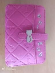 Carteira rosa Animob