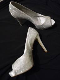 Sapato Divalesi de festa n° 38 uma vez usado