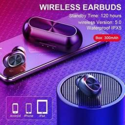 Fone de Ouvido Bluetooth B5 True Wireless Speaker<br><br>