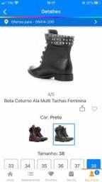 Bota Coturno Ala Multi Tachas Feminina TAM. 38
