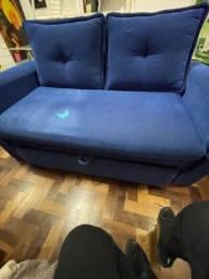 Sofa cama de 2 lugares com baú