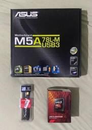 Kit Upgrade Placa mãe, processador e memória