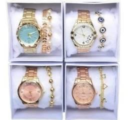 Relógio feminino com pulseira atacado e varejo-entregamos em domicílio