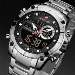 Relógio digital e analógico Naviforce 9163