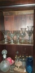 Taças centenárias cristal bordado