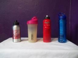 Garrafas para água ideal para academias e corridas
