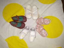 Lote sapatos bebê