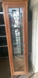 Cristaleira provençal de madeira maciça