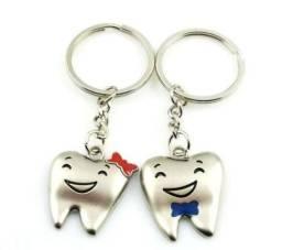 2 Chaveiro Dente Molar Odontologia Homem Ou Mulher Wpp: *