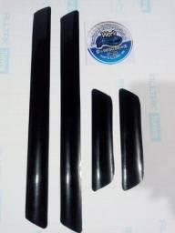 Kit 4 peças Soleira de Porta Universal para Carro - Adesivo de Envelopamento